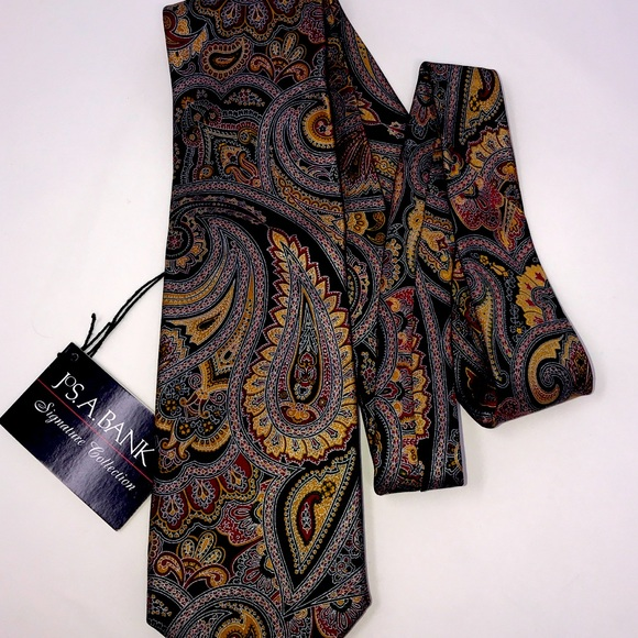 A Bank Signature Collection Purple Tapestry Tie Jos